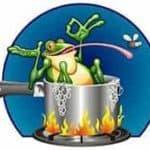 Wer sich heute im Job sicher fühlt, hat vergessen, wie man einen Frosch kocht.