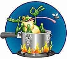 frosch kochen Wer sich heute im Job sicher fühlt, hat vergessen, wie man einen Frosch kocht.
