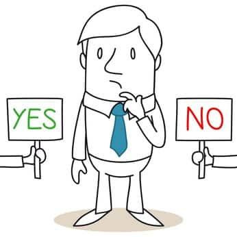 cartoons, Entscheidung, YES or NO, rkwichmann, persönlichkeits-blog